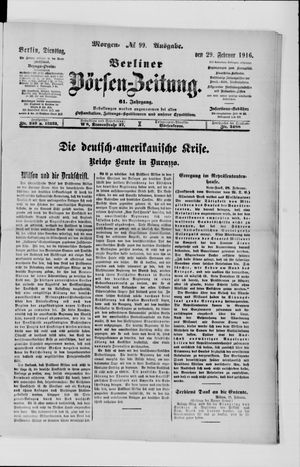 Berliner Börsen-Zeitung vom 29.02.1916