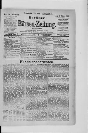Berliner Börsen-Zeitung vom 01.03.1916