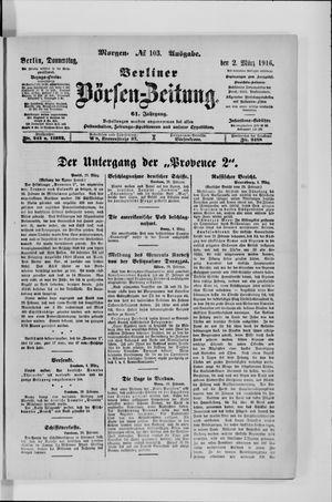 Berliner Börsen-Zeitung vom 02.03.1916