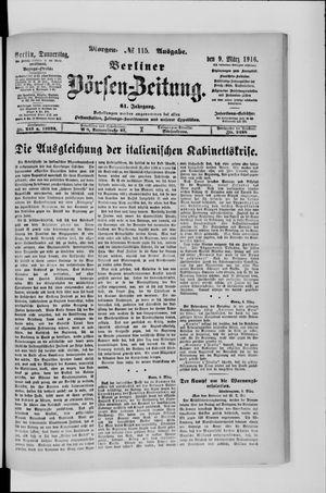 Berliner Börsen-Zeitung vom 09.03.1916