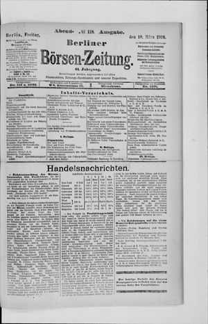 Berliner Börsen-Zeitung vom 10.03.1916