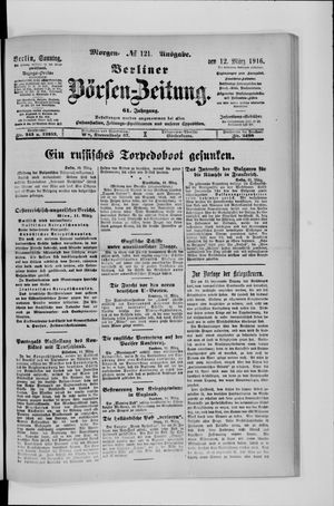 Berliner Börsen-Zeitung vom 12.03.1916