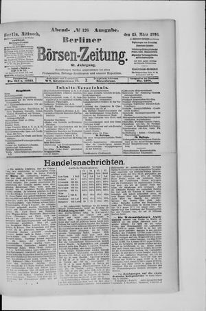 Berliner Börsen-Zeitung vom 15.03.1916