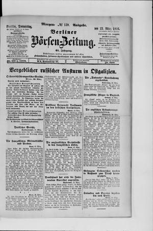Berliner Börsen-Zeitung vom 23.03.1916
