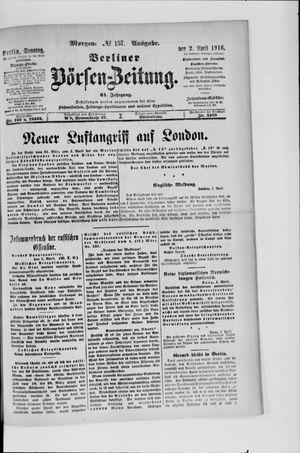 Berliner Börsen-Zeitung vom 02.04.1916