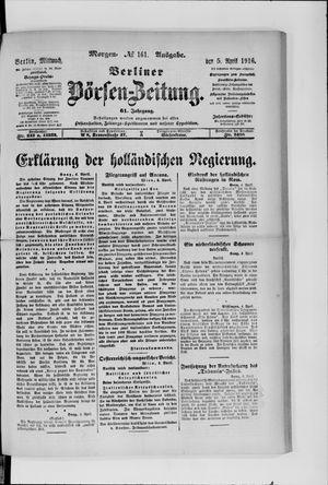 Berliner Börsen-Zeitung vom 05.04.1916