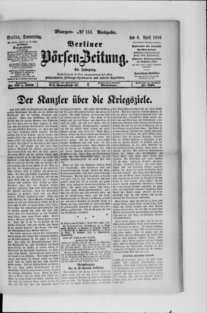 Berliner Börsen-Zeitung vom 06.04.1916