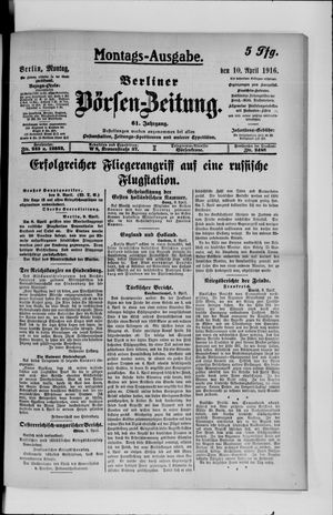 Berliner Börsen-Zeitung vom 10.04.1916