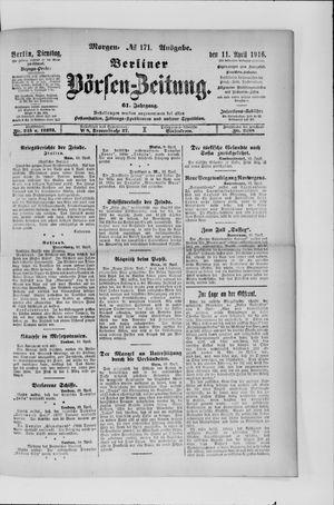 Berliner Börsen-Zeitung vom 11.04.1916