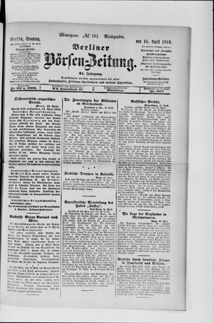 Berliner Börsen-Zeitung vom 16.04.1916