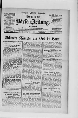 Berliner Börsen-Zeitung vom 19.04.1916
