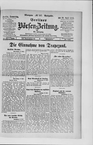 Berliner Börsen-Zeitung vom 20.04.1916