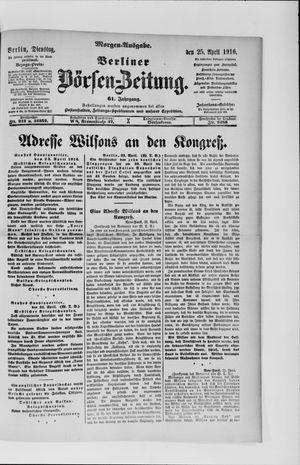 Berliner Börsen-Zeitung vom 25.04.1916