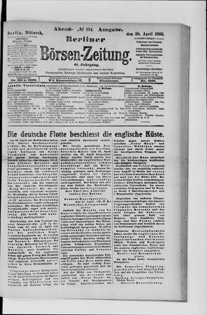 Berliner Börsen-Zeitung vom 26.04.1916