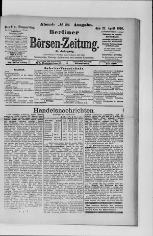 Berliner Börsen-Zeitung vom 27.04.1916