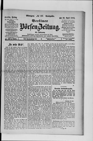 Berliner Börsen-Zeitung vom 28.04.1916