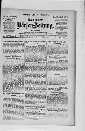 Berliner Börsen-Zeitung on Apr 29, 1916