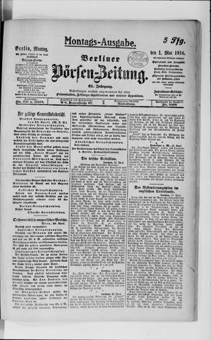 Berliner Börsen-Zeitung vom 01.05.1916