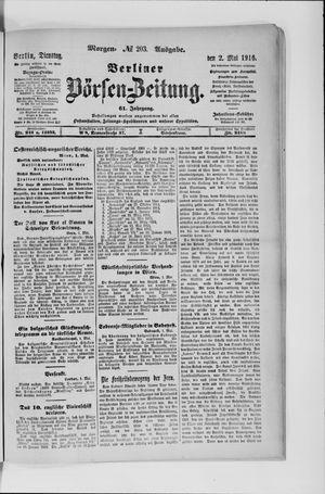 Berliner Börsen-Zeitung vom 02.05.1916