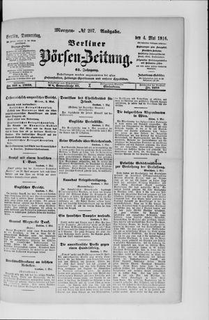 Berliner Börsen-Zeitung vom 04.05.1916