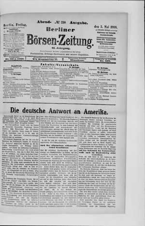 Berliner Börsen-Zeitung vom 05.05.1916