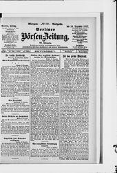 Berliner Börsen-Zeitung (14.12.1917)