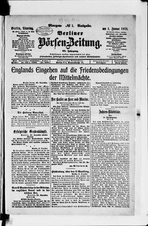 Berliner Börsen-Zeitung vom 01.01.1918
