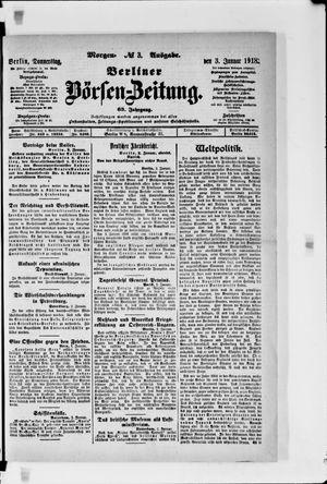 Berliner Börsen-Zeitung vom 03.01.1918
