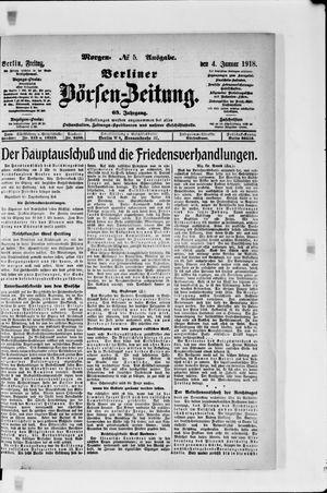 Berliner Börsen-Zeitung vom 04.01.1918