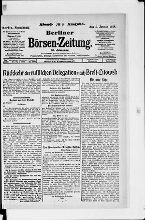 Berliner Börsen-Zeitung vom 05.01.1918