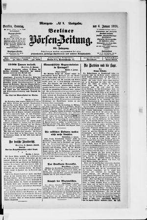 Berliner Börsen-Zeitung vom 06.01.1918