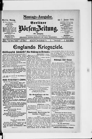 Berliner Börsen-Zeitung vom 07.01.1918