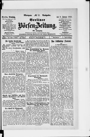 Berliner Börsen-Zeitung vom 08.01.1918