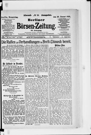 Berliner Börsen-Zeitung vom 10.01.1918