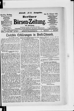 Berliner Börsen-Zeitung vom 11.01.1918