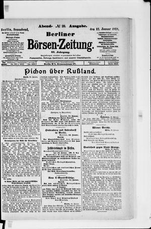 Berliner Börsen-Zeitung vom 12.01.1918