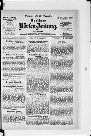 Berliner Börsen-Zeitung vom 15.01.1918