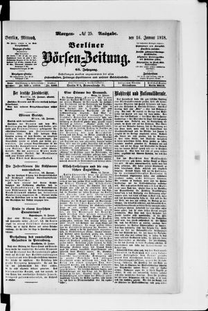 Berliner Börsen-Zeitung vom 16.01.1918