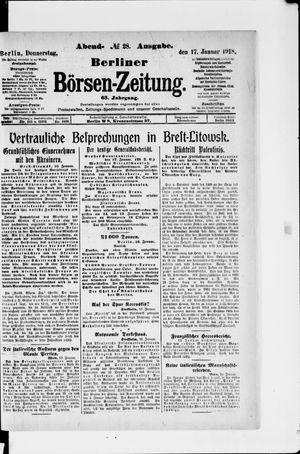 Berliner Börsen-Zeitung vom 17.01.1918