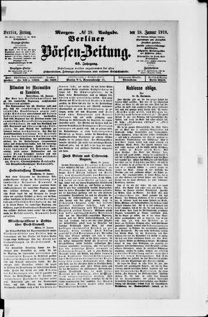Berliner Börsen-Zeitung vom 18.01.1918