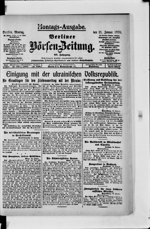 Berliner Börsen-Zeitung vom 21.01.1918