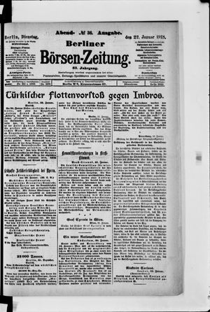 Berliner Börsen-Zeitung vom 22.01.1918