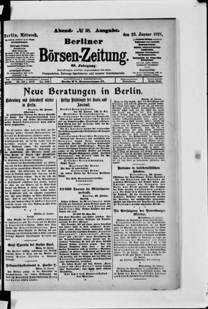 Berliner Börsen-Zeitung vom 23.01.1918