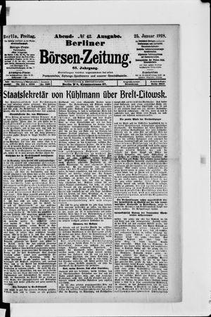 Berliner Börsen-Zeitung vom 25.01.1918