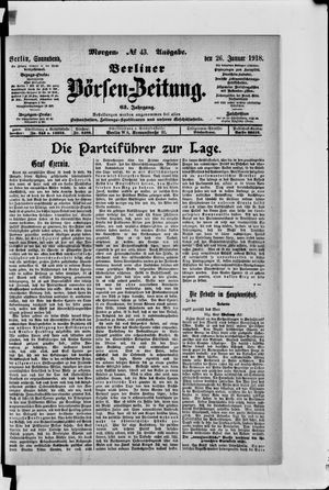 Berliner Börsen-Zeitung vom 26.01.1918