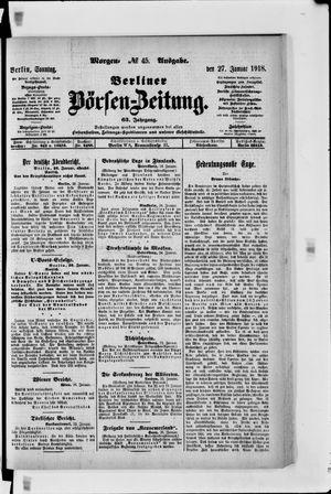 Berliner Börsen-Zeitung vom 27.01.1918