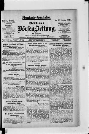 Berliner Börsen-Zeitung on Jan 28, 1918