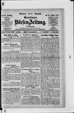 Berliner Börsen-Zeitung vom 29.01.1918