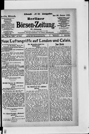 Berliner Börsen-Zeitung vom 30.01.1918