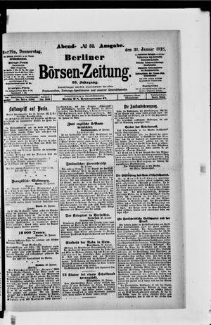 Berliner Börsen-Zeitung vom 31.01.1918